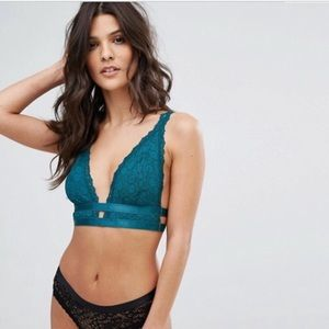NWT Free People Call Me Darling Lace soft bra S